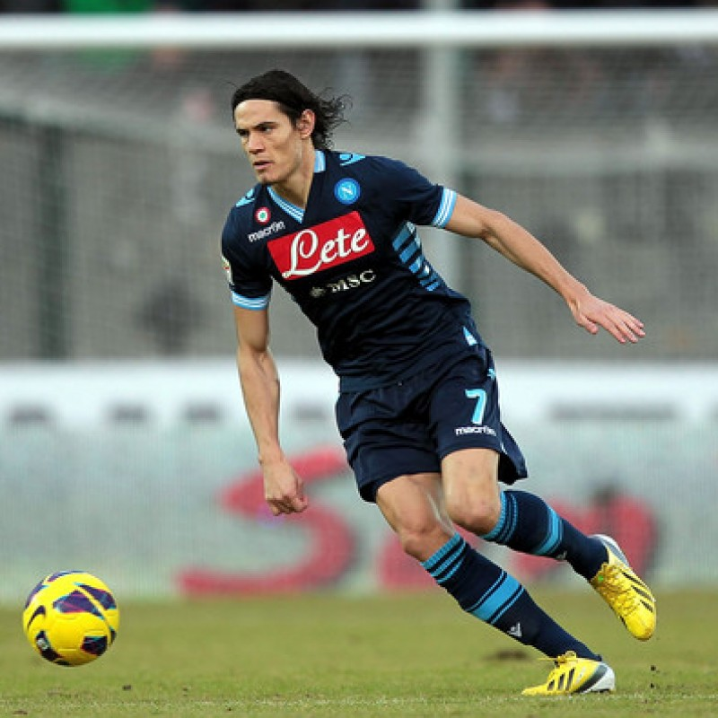 Cavani's Signed Match-issued Napoli Shirt, 2012/13 Serie A