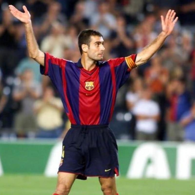 Luis Enrique's Official Barcelona Signed Shirt, 1998/99