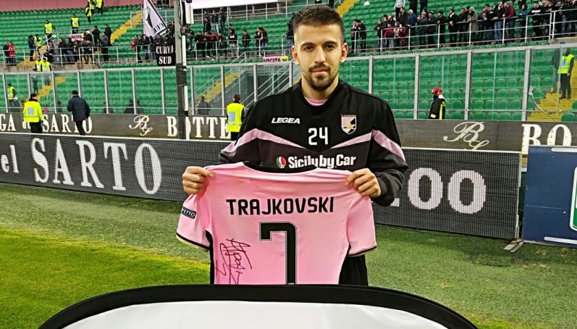 Trajkovski 's Match-Worn and Signed Shirt from Palermo-Brescia 2017/18