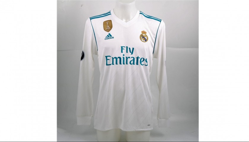 a11cfe5e9 Bale Real Madrid Match-Issued/Worn Shirt, 2017/18 UCL - CharityStars
