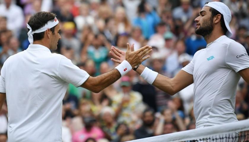 Matteo Berrettini's Worn and Signed Shirt - Wimbledon