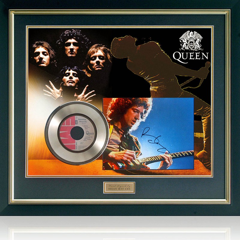 Queen - Bohemian Rhapsody Gold Disc Presentation Hand Signed by Brian May