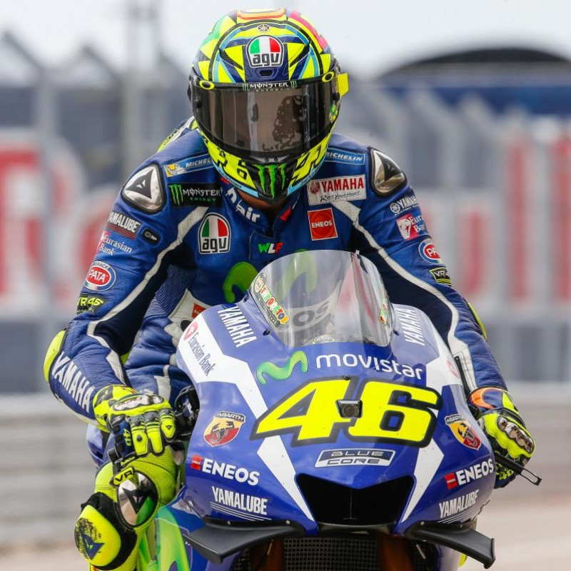 Valentino Rossi's Signed Free Practice-Worn Dainese Gloves