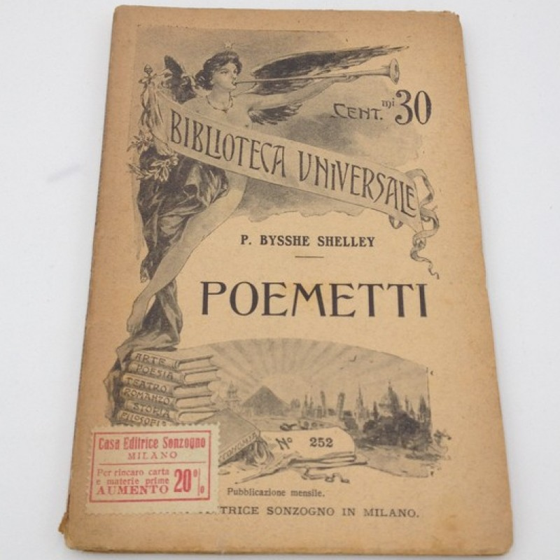 """""""Poemetti"""" - Percy Bysshe Shelley (Late 1800s)"""
