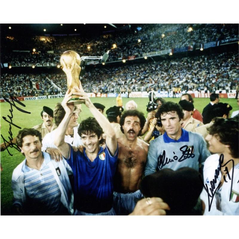 1982 World Cup - Photograph Signed by Dino Zoff, Selvaggi and Massaro
