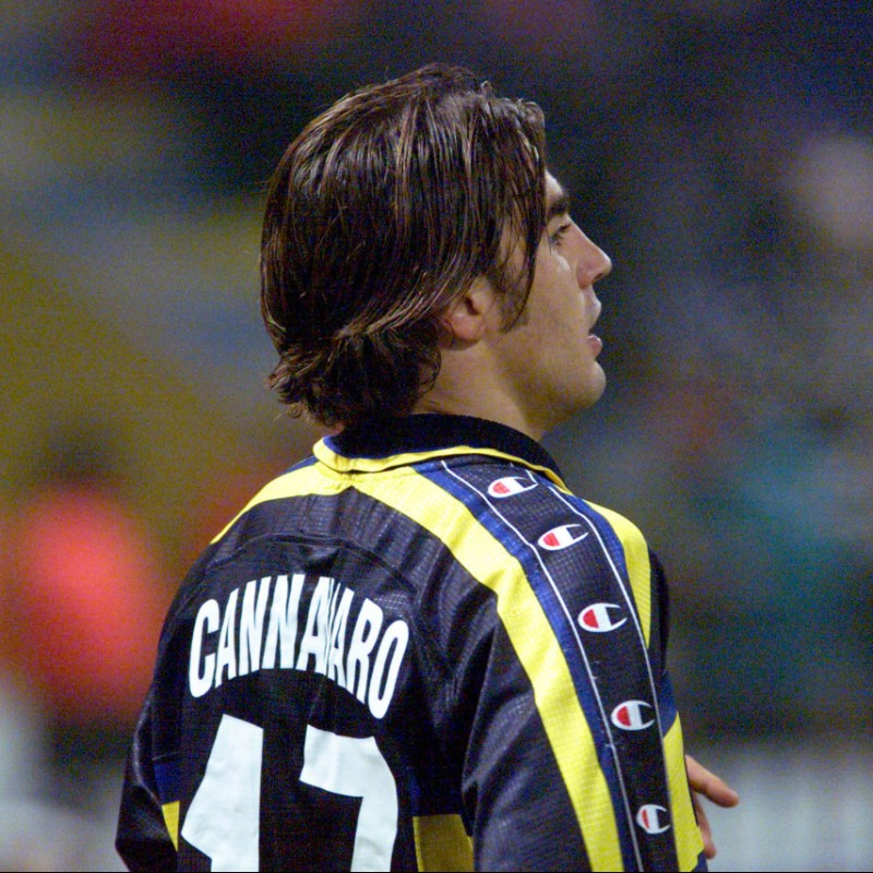 Cannavaro's Signed Match-Issued Parma Shirt, 1999/2000 TIM Cup