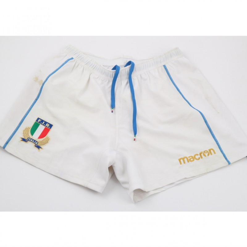 Campagnaro's Worn and Unwashed Rugby Shorts, Japan-Italy