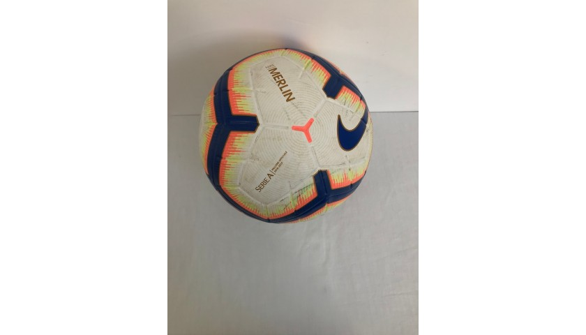 Match-Ball Serie A 2018/19 -Signed by Immobile