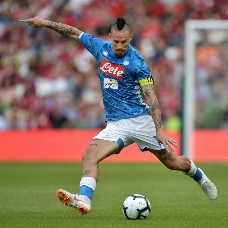 Hamsik's Napoli Signed Match Shirt, 2018/19