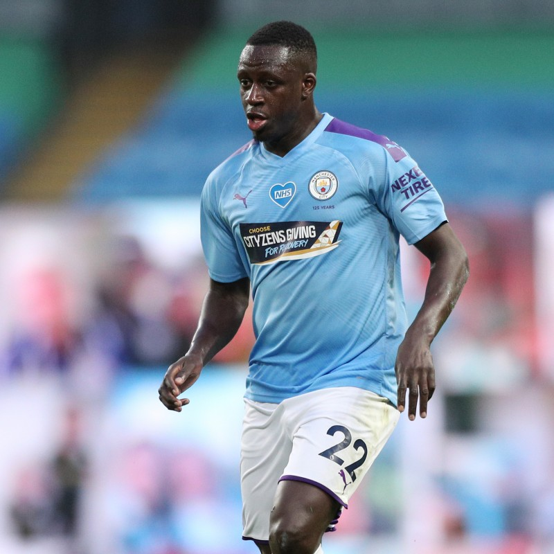 Cityzens Giving for Recovery Match Issued Shirt Signed by Benjamin Mendy