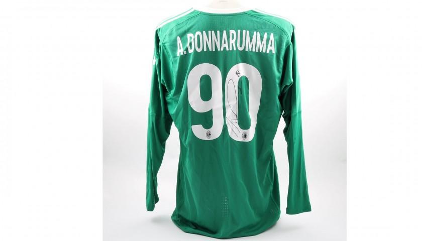 Antonio Donnarumma's Match-Worn Milan-Inter Shirt with Special ...