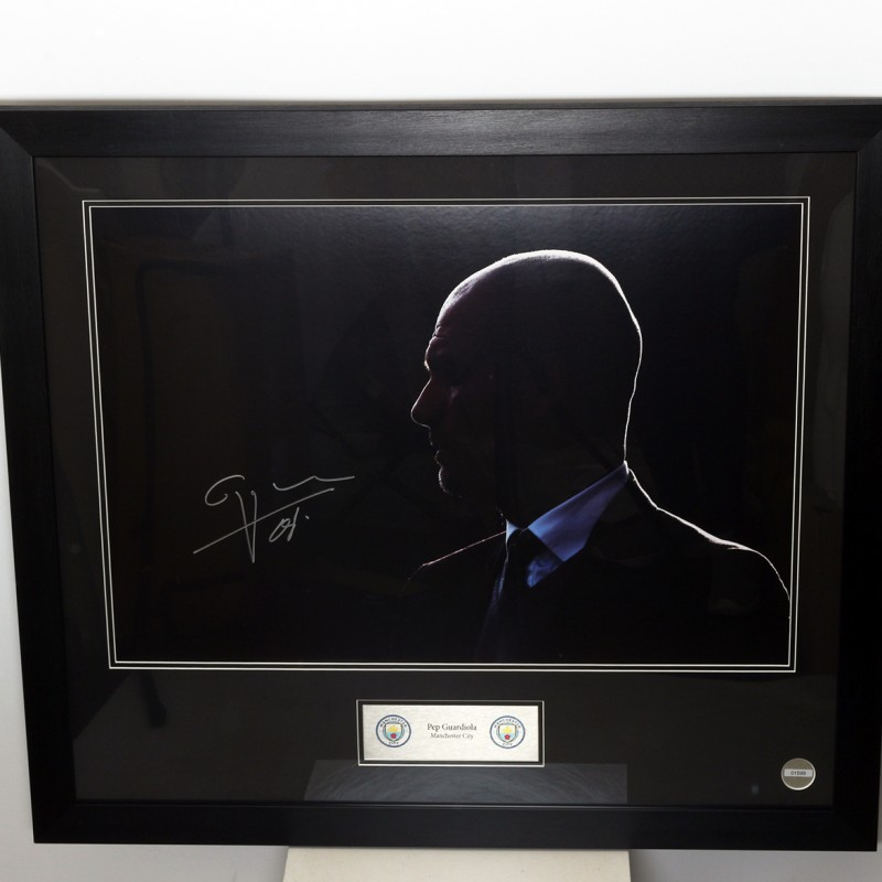 Signed Framed Silhouette of Pep Guardiola