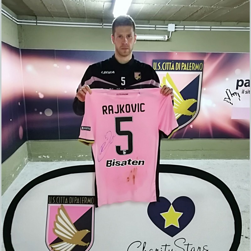 Rajković's Signed Match-Worn 2018 Palermo-Carpi Shirt