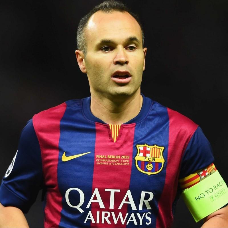Iniesta Match-Issued/Worn Shirt, Champions League Final 2015