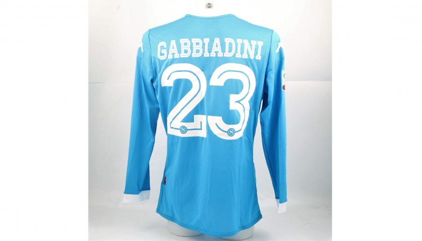 Gabbiadini's Match-Issued/Worn Napoli Shirt, Serie A 2015/16
