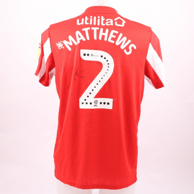 Matthews' Sunderland AFC Worn and Signed Poppy Shirt