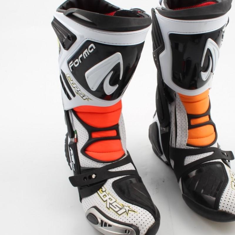 Boots worn by Simone Corsi in Moto 2, 2015 season