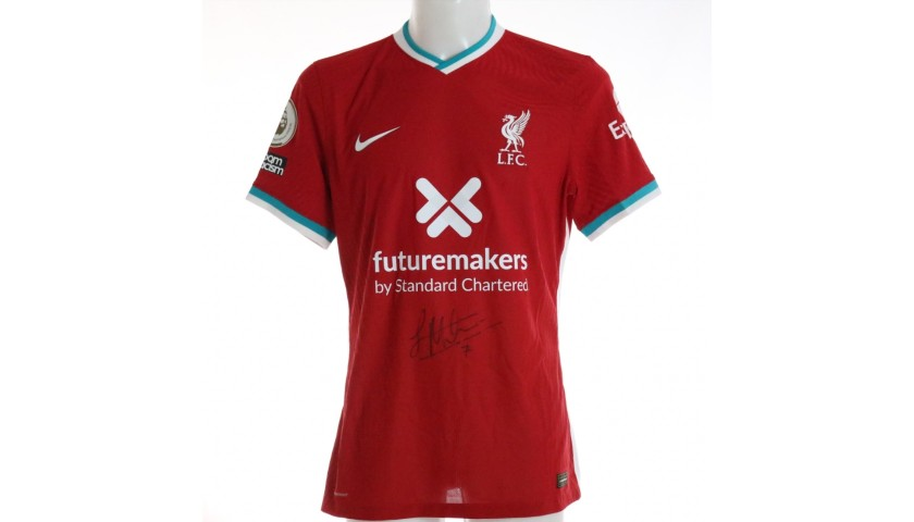 Milner's Liverpool FC Match-Issued and Signed Shirt, Limited Edition 20/21