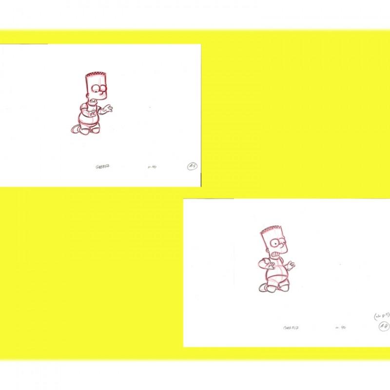 The Simpsons - Original Drawings of Bart Simpson