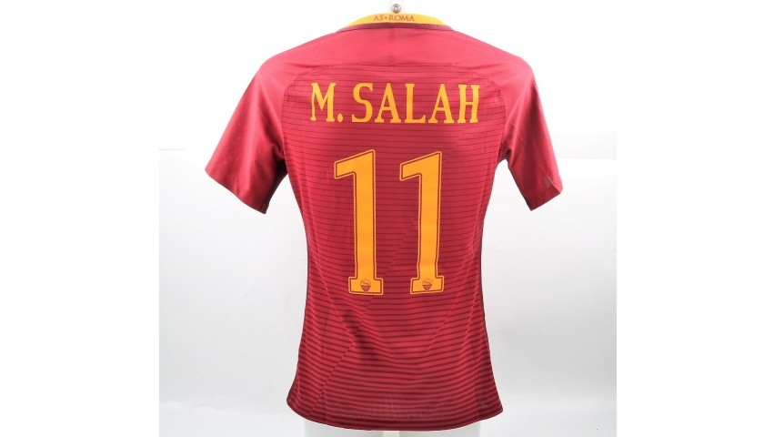 pretty nice 83472 0a6ef Salah's 2016/17 Match-Issued/Worn Lazio-Roma Tim Cup Semifinal Shirt -  CharityStars
