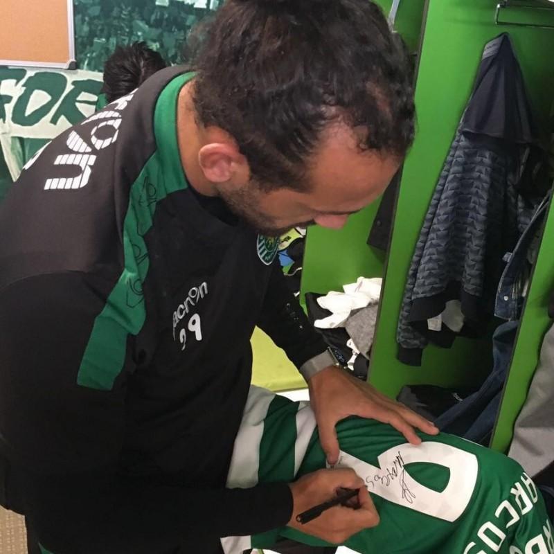 Match worn Barcos shirt, SCP Sporting CP-Maritimo Primeira Liga 09/04 - signed