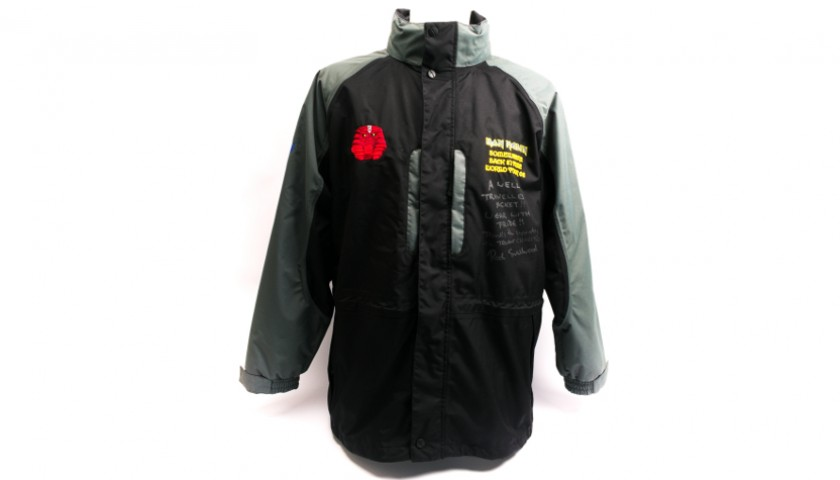 Signed Rod Smallwood Somewhere Back in Time Tour Jacket