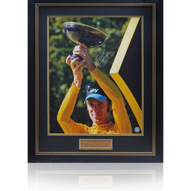 Sir Bradley Wiggins Hand Signed Tour de France 2012 Photograph