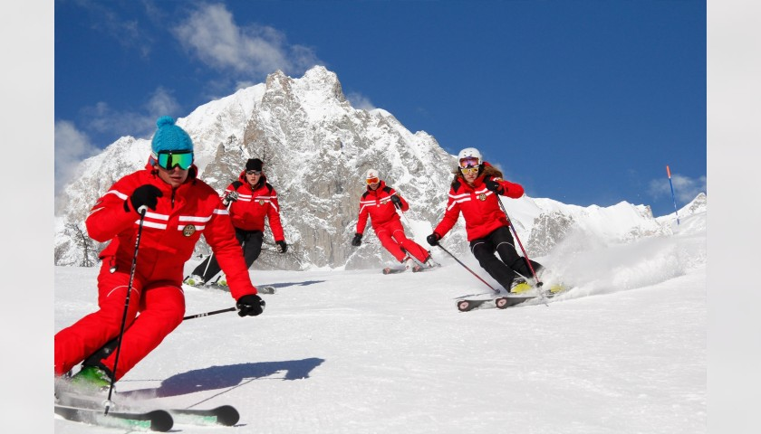 5-Day Group Skiing Lesson at the Mont Blanc Ski School in Courmayeur, Italy