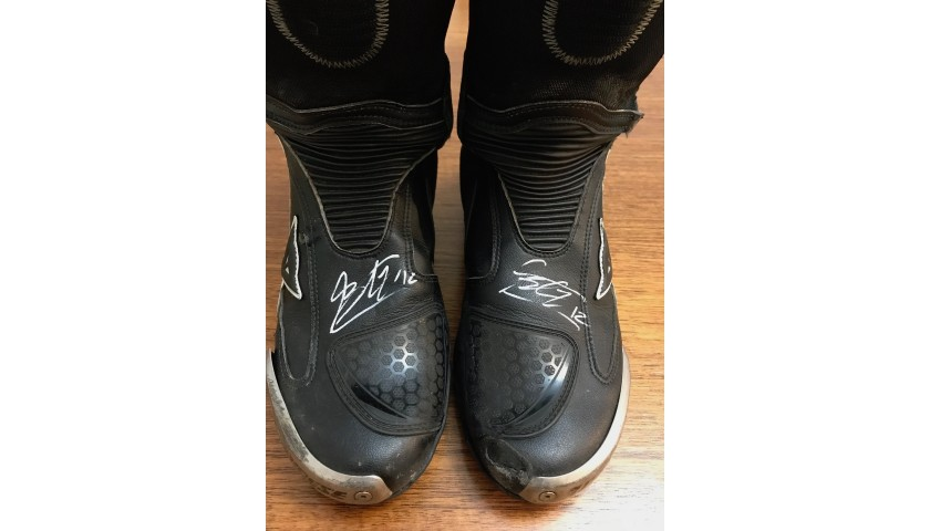 Marco Bezzecchi Worn and Signed Boots