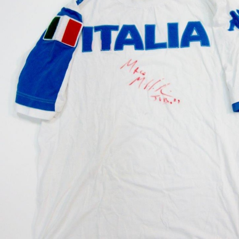 Italy match worn shirt- signed by Marco Maddaloni