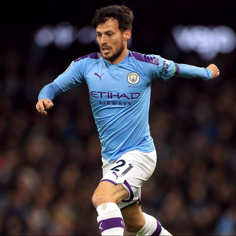 Silva's Official Manchester City Signed Shirt, 2019/20