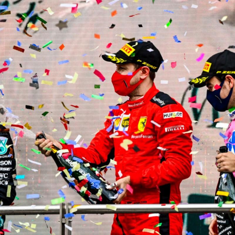 Sebatian Vettel 2020 Ferrari Overalls
