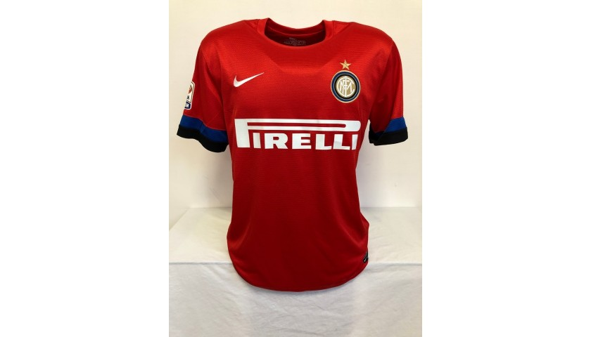 Zanetti's Official Inter Signed Shirt, 2012/13