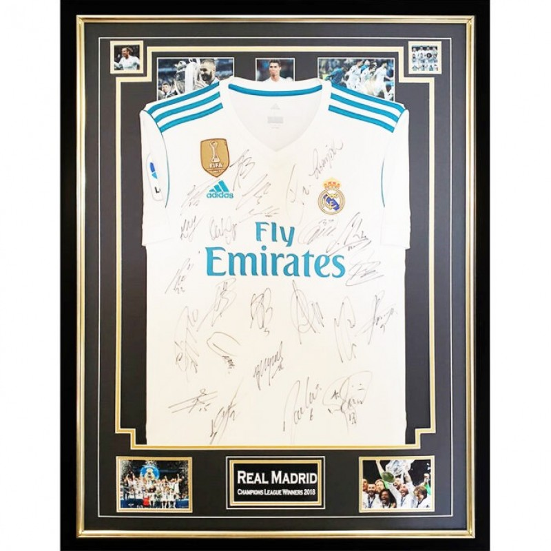 Real Madrid Champions League Winners 2018 Signed Shirt