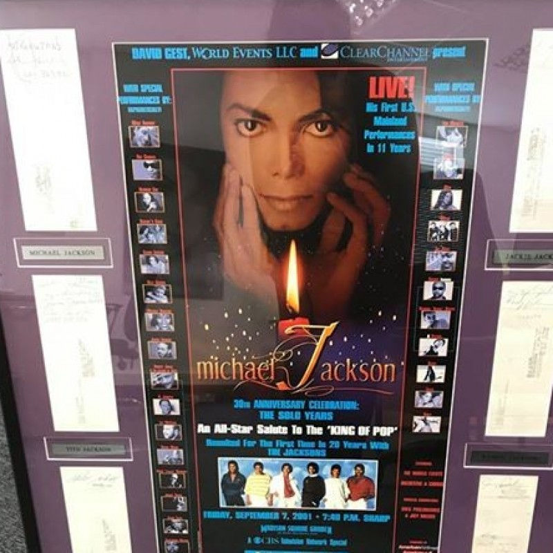 Presentation Frame Signed by The Jacksons