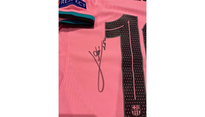 Messi's Barcelona Signed Match Shirt, UCL 2020/21