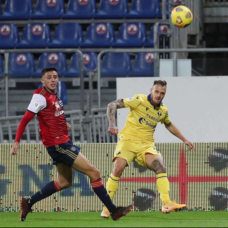 Dimarco's Worn Shirt, Cagliari-Hellas Verona - Coppa Italia 2020