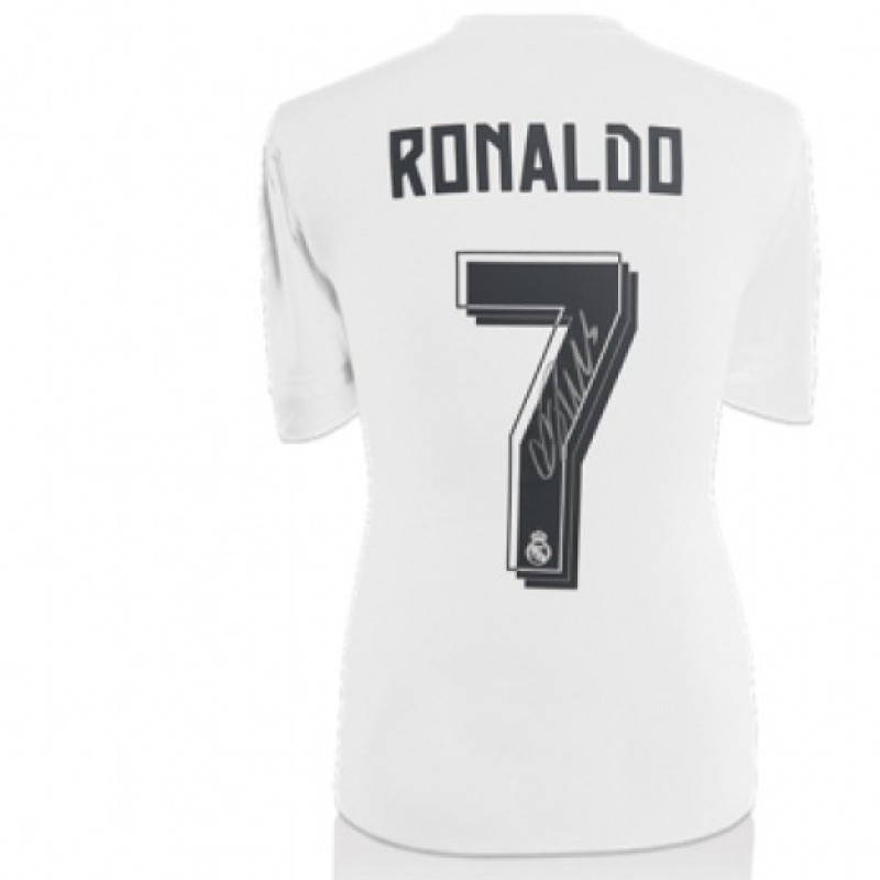Cristiano Ronaldo Real Madrid 2015/16 Signed Home Shirt Edit