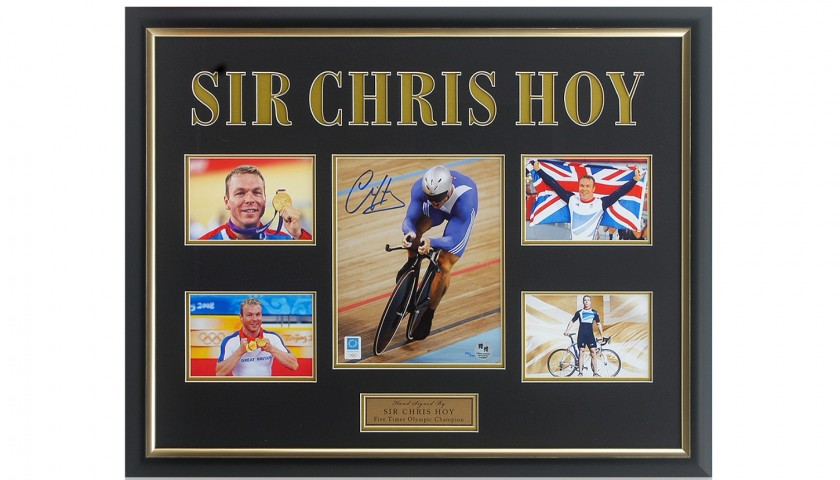 Sir Chris Hoy Signed Olympic Cycling Presentation