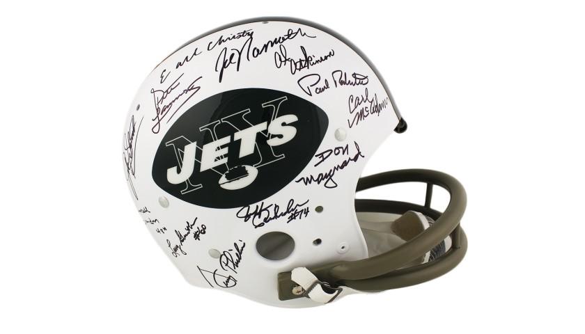 1969 New York Jets Team Signed TK Suspension NFL Helmet