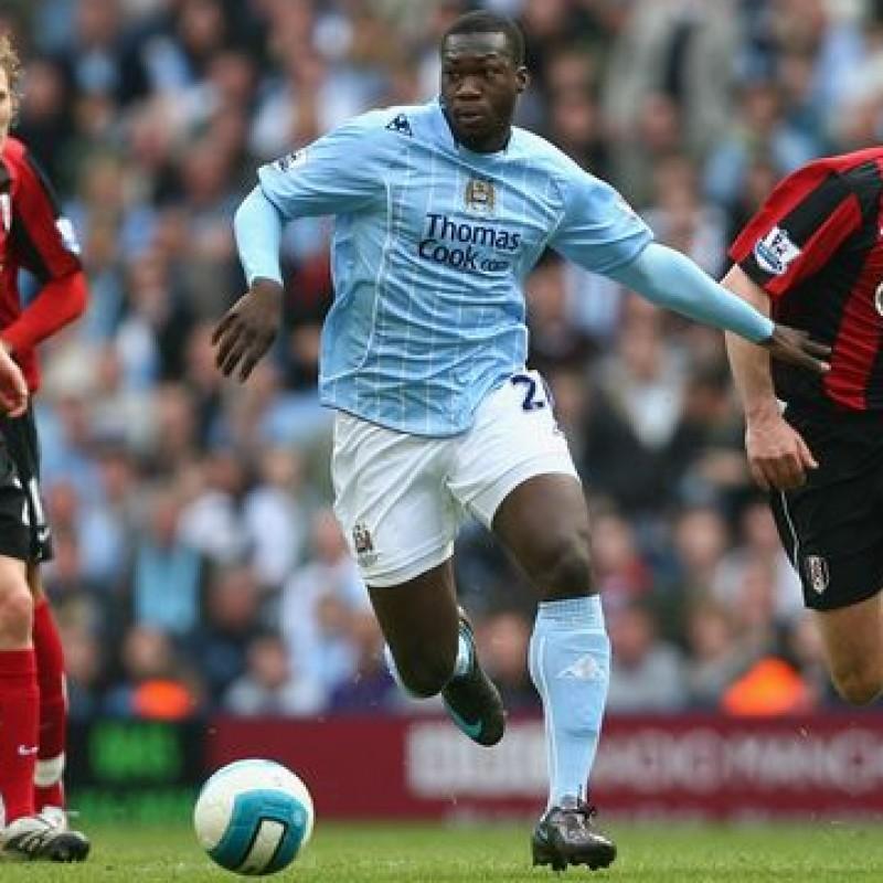 Caicedo's Official Manchester City Signed Shirt, 2007/08
