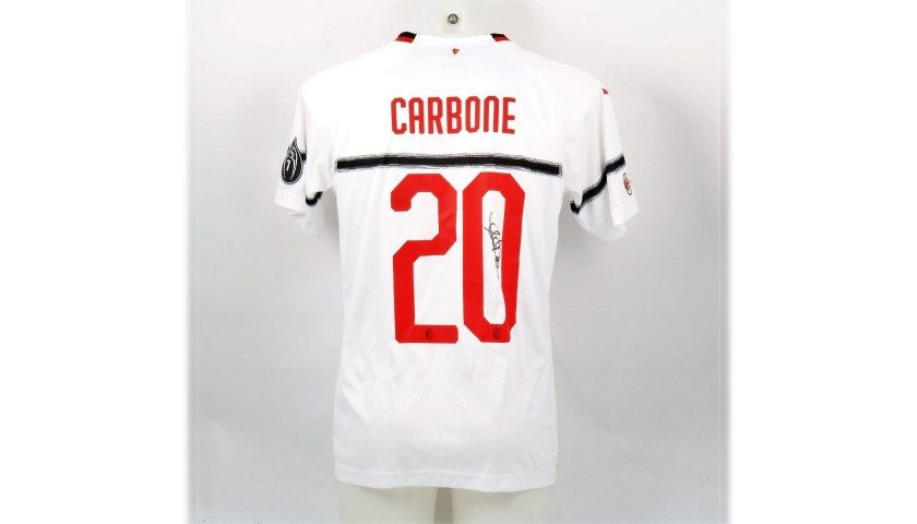 Carbone's Worn and Signed Shirt, Liverpool-AC Milan 2019