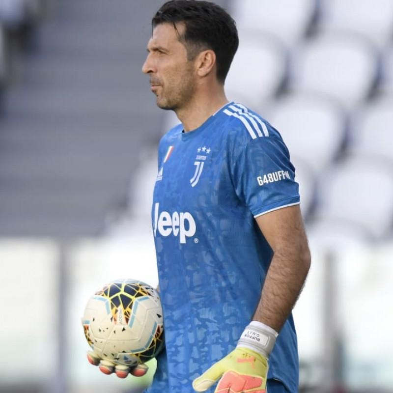 Buffon's Match Shirt, Juventus-Torino 2020 - Signed by the Players