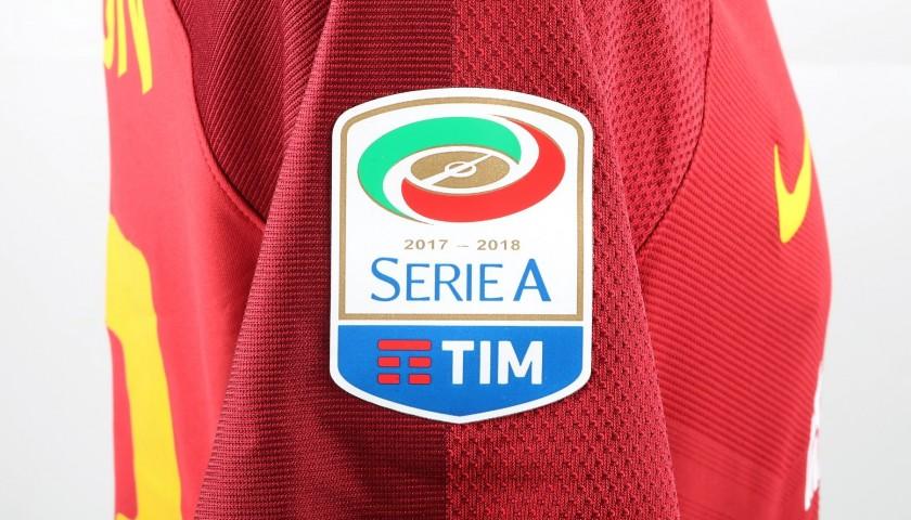 Emerson's Bench-Worn Roma-Cagliari Shirt, Special Sponsor Telethon