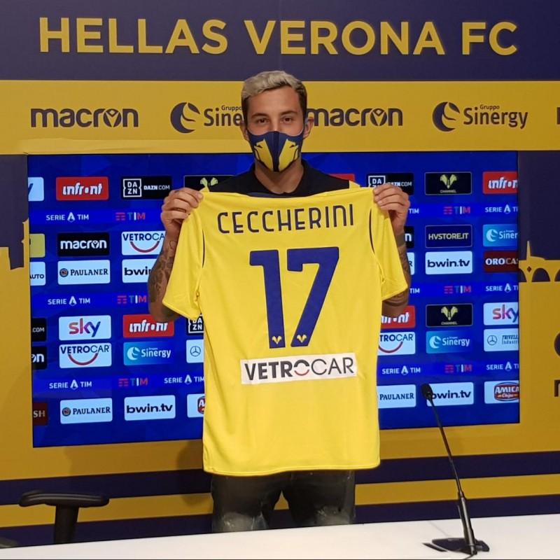 Ceccherini's Worn Shirt, Cagliari-Hellas Verona - Coppa Italia 2020