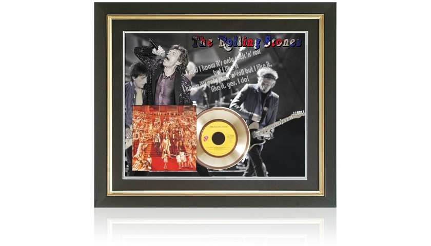 Rolling Stones Limited Edition Gold Disc Presentation