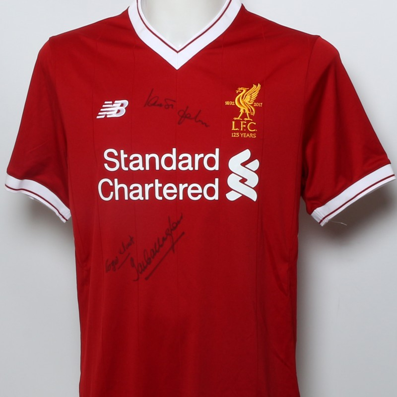 "LFC 125 Shirt ""LFC ERA 1965"" Signed by Hunt, St John and Callaghan"