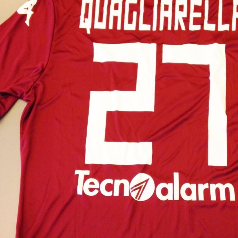 Quagliarella match issued shirt, Torino-Milan Serie A 2014/2015