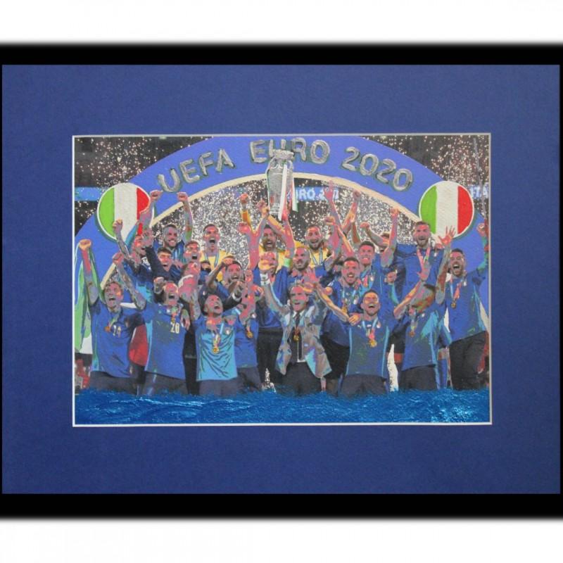 UEFA Euro 2020 - Italy Champion Artwork by Gabriele Salvatore
