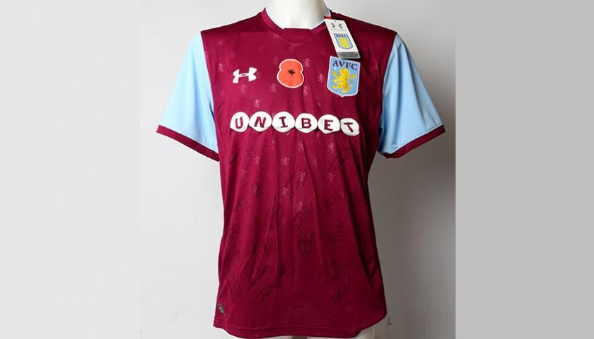 the best attitude ac988 38df2 Poppy Shirt Signed by Aston Villa F.C. - CharityStars